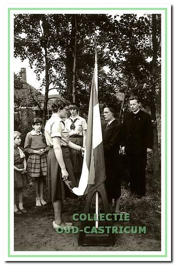 Simone Martin als groepsleidster van de St. Claragroep aangesteld in 1961.