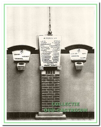 Gedenkteken voor de slachtoffers van de Tweede Wereldoorlog in de hal van de HTS te Haarlem.