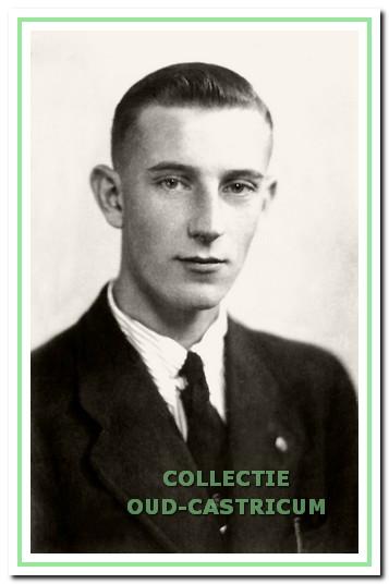 Jan Hoberg op 17-jarige leeftijd.