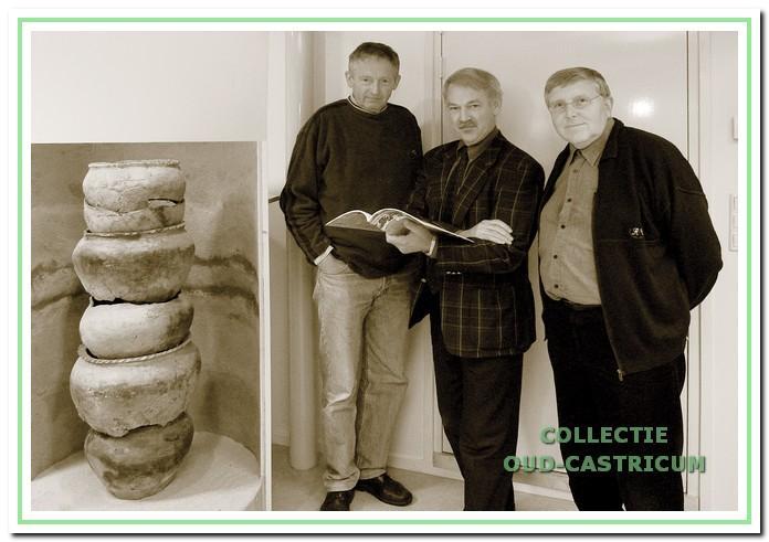 De redactie van 1977-2002. V.l.n.r.: Niek Kaan, Simon Zuurbier en Frans Baars (foto Kees Blokker).