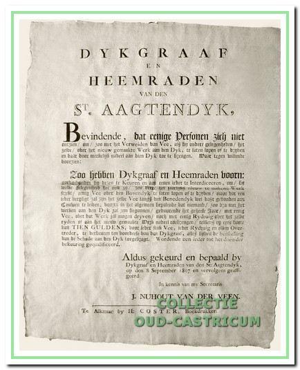 Goedkeuring van de rekening op 23 mei 1791 op het raadhuis van Bakkum.
