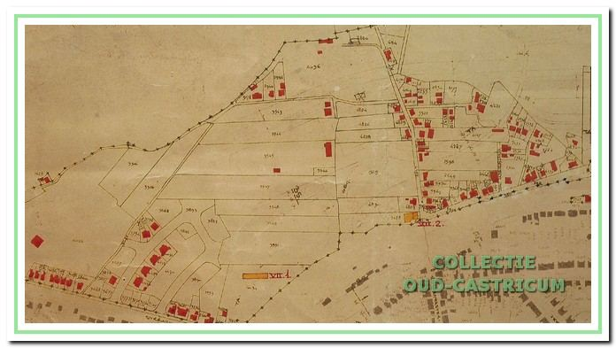 Een gedeelte van de zogenaamde 'verwoestingskaart'.