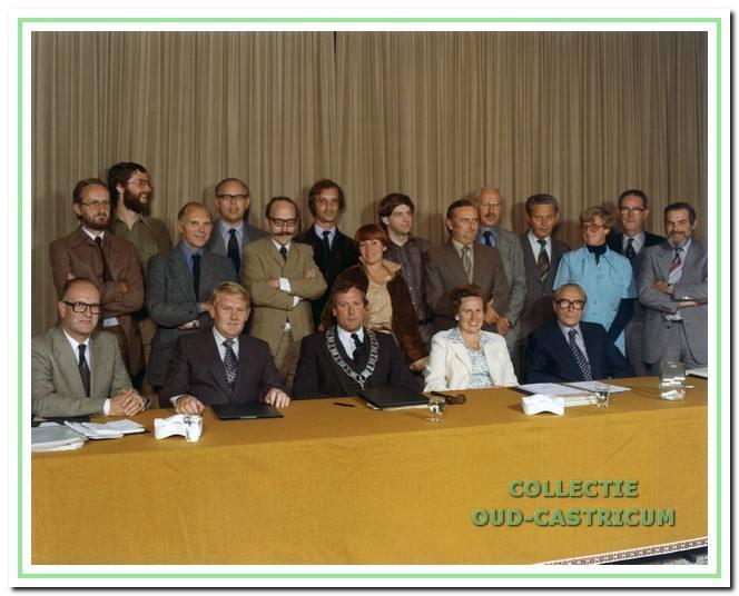 Bij het afscheid van de raadsleden uit de zittingsperiode 1974-1978 op 31 augustus 1978.