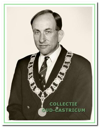 Burgemeester Schouwenaar.