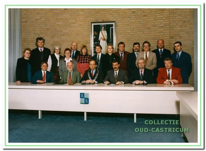 Afscheid van de raad in maart 1994.