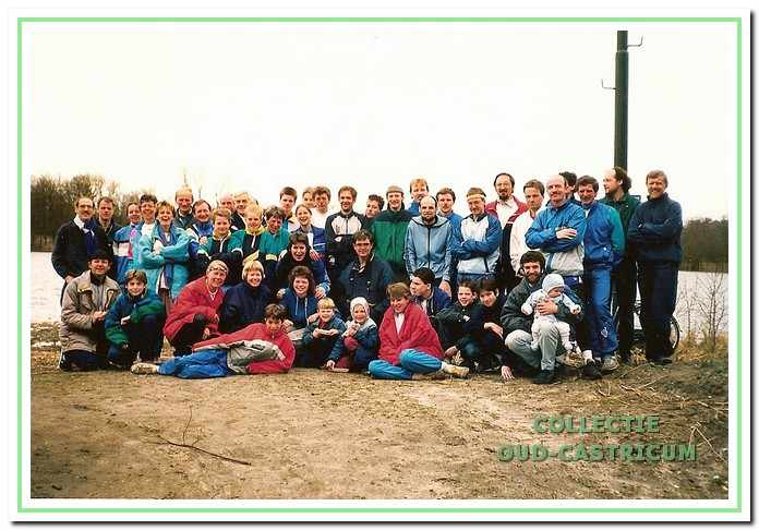 De schaatstrainingsgroep in maart 1988.