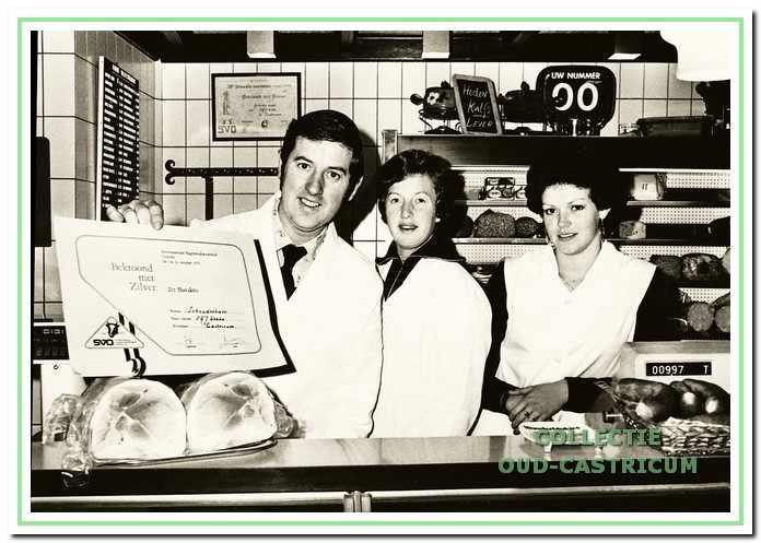 Slagerij Webbe wint de tweede prijs voorgekookte hamsoorten.
