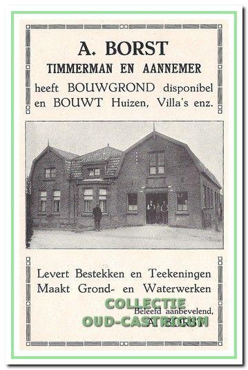Zo timmerde Antoon Borst aan de weg in de Gids voor Castricum, een uitgave van de VVV in 1925.