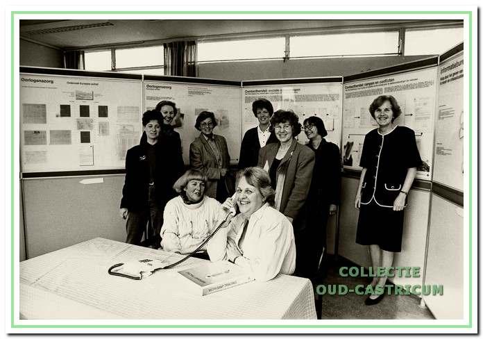 De vrijwilligers van het in 1995 opgerichte Tracing Centrum.