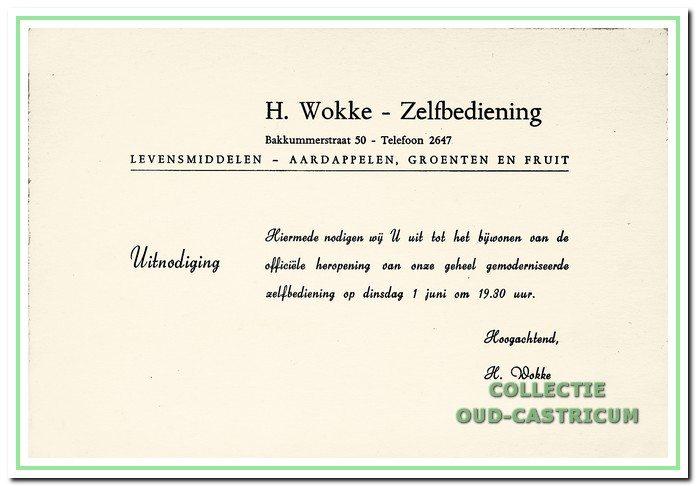 Uitnodiging voor de heropening in 1965.