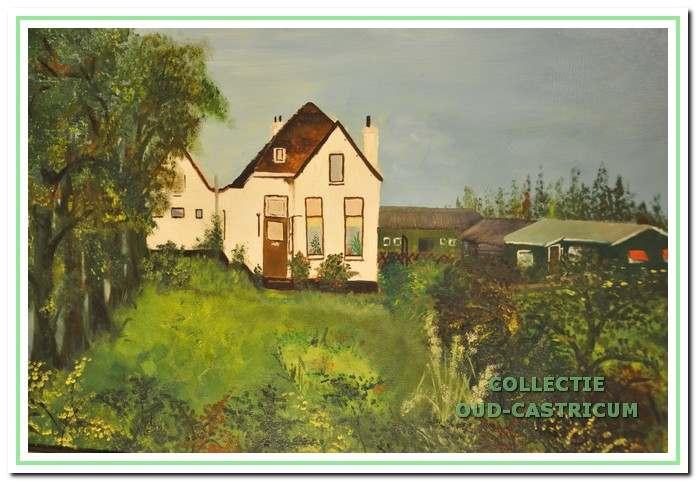 Schilderij van het huis in de (negentien)zeventiger jaren.