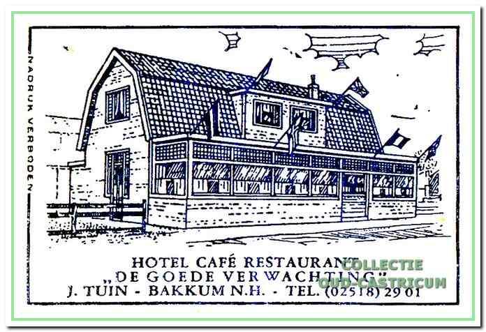 Een suikerzakje van café Tuin.