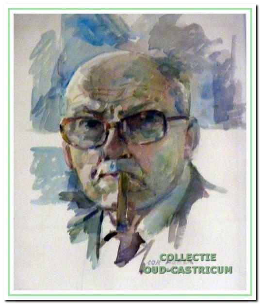 Zelfportret van Cor Heeck.