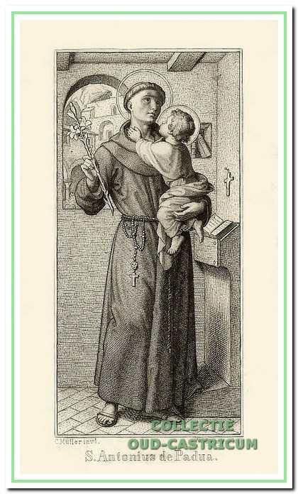 Antonius is de patroonheilige van de franciscanen onder andere voor vrouwen, kinderen en armen en wordt in katholieke kringen ook aangeroepen om zoek geraakte voorwerpen terug te vinden.