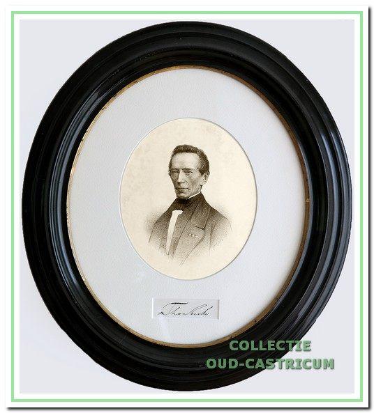 Thorbecke, groot staatsman en ontwerper van de nieuwe gemeentewet van 1851.