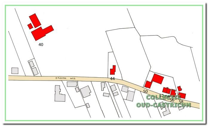 De huizen die worden beschreven, liggen aan de noordzijde van de Breedeweg.