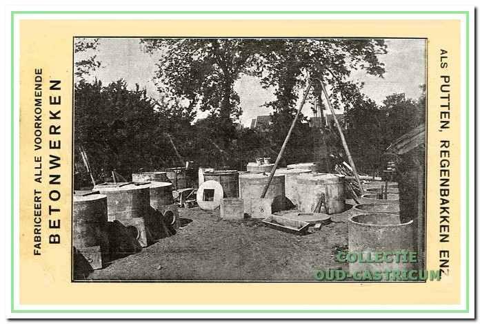 Deze kaart is reclame van Cees de Groot, metselaar, aannemer en handelaar in bouwstoffen, hij exploiteerde tot de 2e wereldoorlog de kalkovens aan de Stetweg.