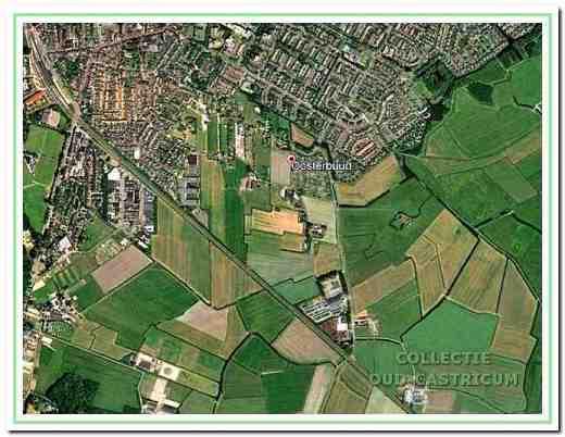 De Oosterbuurt aan de zuidoost-rand van het dichtbebouwde Castricum.