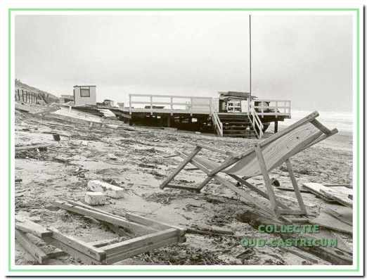 Zware schade na de storm in 1980.