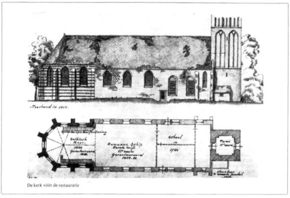 De kerk vóór de reatauratie