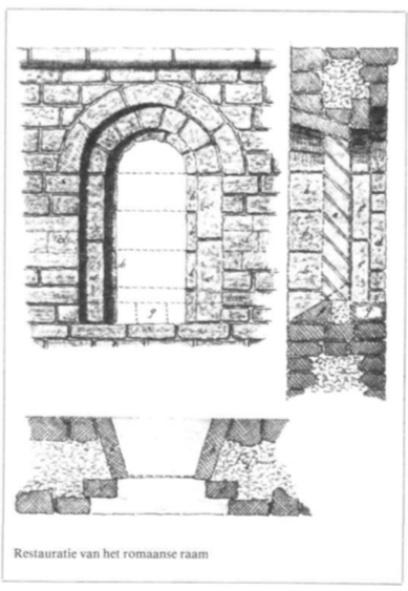 Restauratie van het Romaanse raam