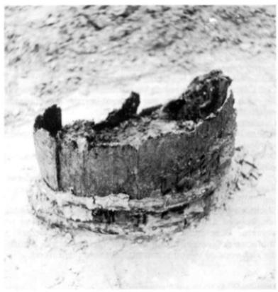 Tonput bevattende een middeleeuwse schoen.