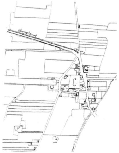 De eerste kadastrale kaart geeft een beeld van Castricum anno 1825.
