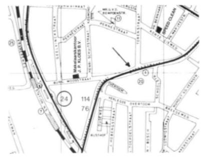 De lokatie van de archeologische verkenning (coördinaten: 506.85 - 105.90)