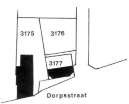 De percelen aan de Dorpsstraat
