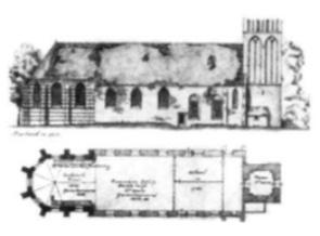 Een ruimte in de NH kerk afgeschot van de rest, fungeerde lang als de Castricumse school. In 1825 werd de ruimte voor f 10,- per jaar gehuurd. Het kerkhof deed dienst als speelplaats. Om de school binnen te gaan, moesten de kinderen eerst een hok passeren, waarin doodsbeenderen lagen opgestapeld. Pas in 1854 kreeg Castricum zijn eerste schoolgebouw. De NH kerk werd ook later nog vele malen gebruikt om in noodgevallen als school te fungeren.