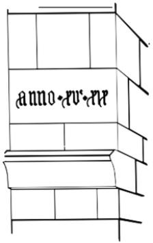Het jaartal 1519 in de noordwestelijke steunbeer.