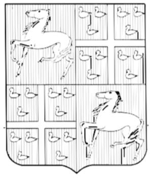 Het wapen van de Heren van Assendelft, gekwartileerd, I en IV in rood een zilveren stappend paard (stamwapen van Assendelft), II en III in rood een zilveren kruis, in elk kanton drie zilveren merletten, 2 en 1, (het stamwapen van Van Haerlem). Oudst bekende vorm dateert van 1429, gevoerd door de zonen van Gerrit van Assendelft en Stevina van Haerlem.