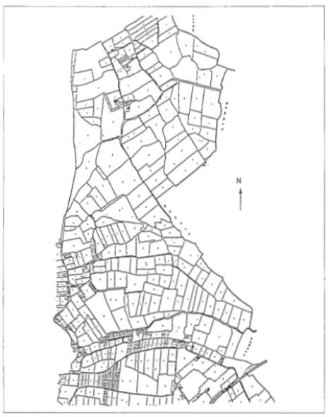 Minuutplan 1832 Castricum: noordelijke gedeelte.