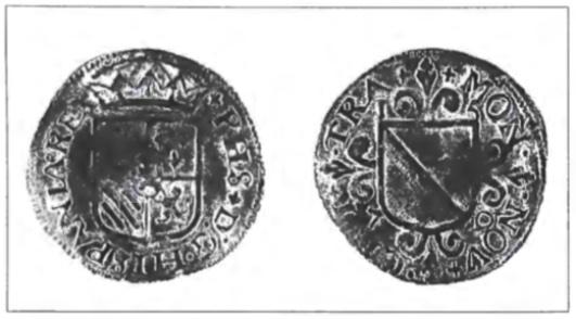Een oord of een dubbele duit geslagen in naam van Philips II, koning van Spanje. Op de rechter keerzijde staat het jaartal 1579 afgebeeld. De één en de vijf op de beide hoekpunten, de zeven en negen onderaan aan weerskanten van de rondingen van het wapenschild.