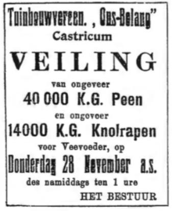 Een advertentie uit 1918.