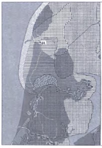 Noord-Holland omstreeks 2100 v. Chr. De kustboog van de Noordkop is gesloten en ligt in een vooruitgeschoven positie, terwijl de kust van Midden- Noord-Holland nog erg open is. Het zeegat van Bergen is bezig te verlanden, maar het zeegat bij Uitgeest staat in verbinding met een zijtak van de Rijn en heeft daarmee een afwateringsfunctie. (Zagwijn 1986).