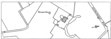 Boerderij Cronenbwg nabij de Uitgeesterweg in 1835.