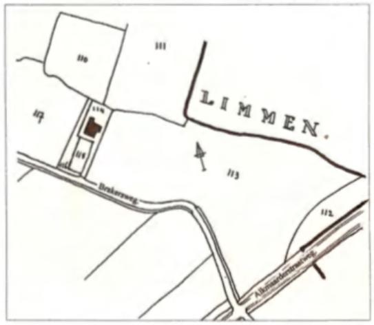 De situatie omstreeks 1832.