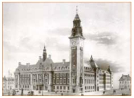 Het ontwerp van Jan Stuyt voor het raadhuis Rotterdam (1912), waarvoor hij de 2e prijs kreeg.