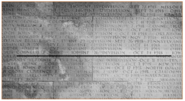 Voor Cornelis Kuijs is er een gedenksteen op de Amerikaanse begraafplaats van Meuse-Argonne. Zijn stoffelijke resten zijn niet teruggevonden.