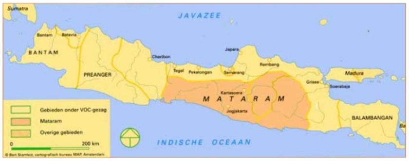 Kaart van Midden- en West-Java.