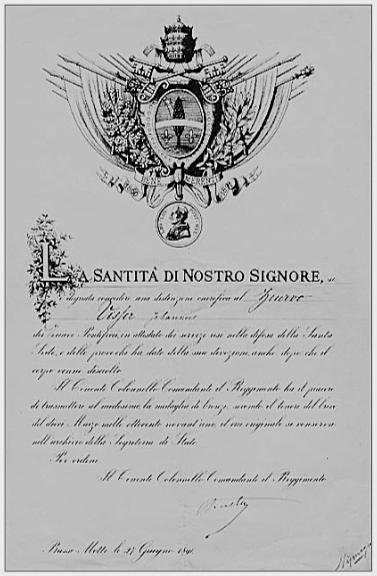 Erediploma van Visser behorende bij de onderscheiding 'Bene Merenti'.