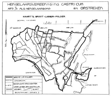 Het viswater in de Groot Limmerpolder tijdens het jaar 1937.