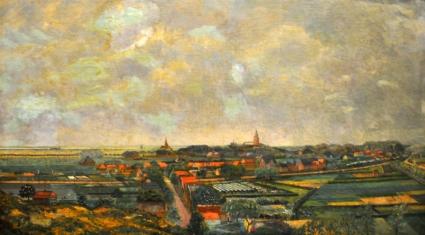 Panorama Castricum en Bakkum, olieverf op doek, 82 x 133 cm, rechtsonder gesigneerd Henri Braakensiek, ca. 1927.