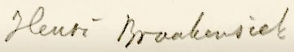 Handtekening Henri Braakensiek.