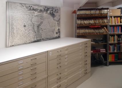 Een groot deel van de schenkingen wordt bewaard in de nieuwe archiefruimte die voldoet aan de eisen van klimaatbeheersing.