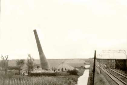 Sloop kalkovens te Bakkum in 1943.