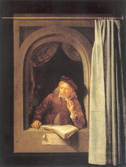 G.Dou (1613 - 1675); Zelfportret ca. 1630; Rijksmuseum Amsterdam.