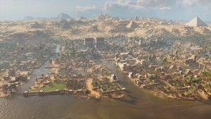Memphis, gedomineerd door de centrale tempel van Ptah