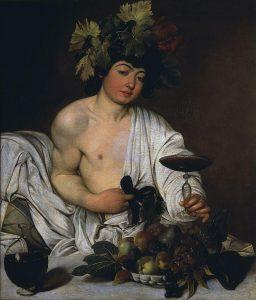 Caravaggio's interpretatie van de god Bacchus